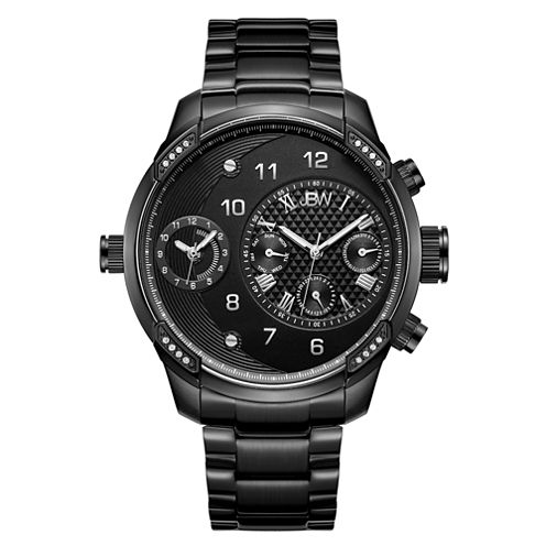 JBW G3 0.16 C.T.W Diamond Mens Black Bracelet Watch-J6344d