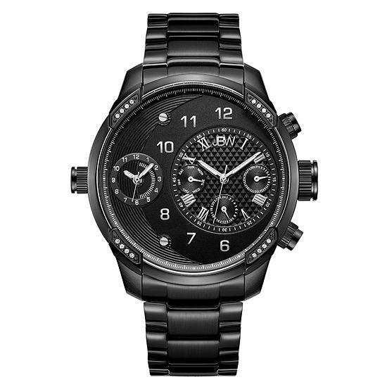 JBW G3 1/6 Ct. T.W. Genuind Diamond Mens Black Stainless Steel Bracelet Watch-J6344d