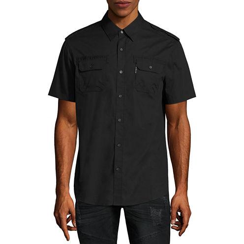 Ecko Unltd Short Sleeve Button-Front Shirt