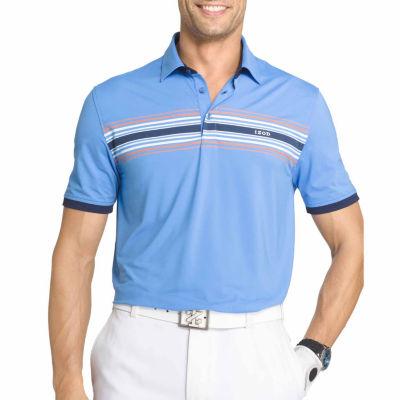 IZOD Golf Short Sleeve Chest Stripe Polo Shirt