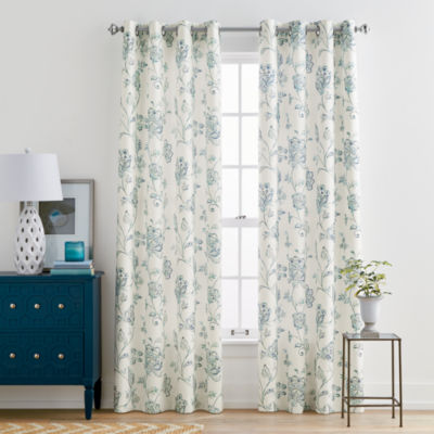 Jcpenney Home Quinn Leaf Grommet Top Curtain Panel Jcpenney