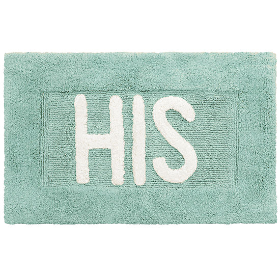 Creative Home His Hers Cotton 2 Pc Bath Rug Set