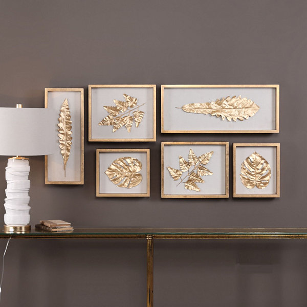 Leaves Shadow Box Wall Décor (Set of 6)