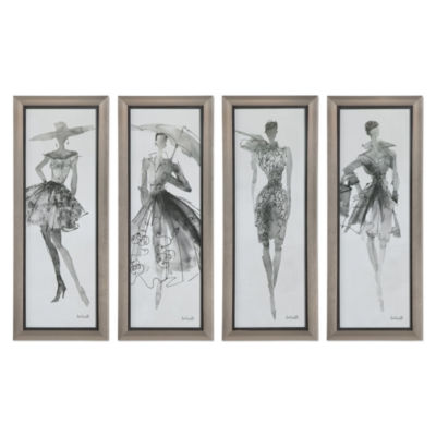 Fashion Sketchbook Wall Art (Set Of 4)