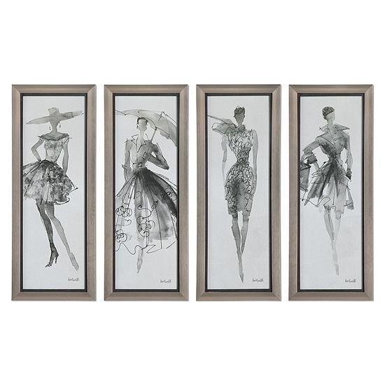 Fashion Sketchbook Wall Art Set Of 4
