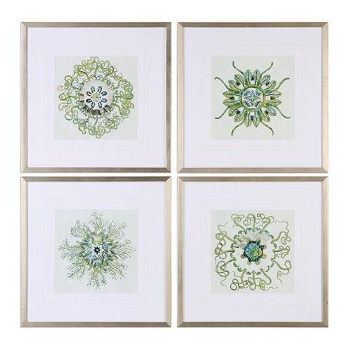 Organic Symbols Wall Art  (Set Of 4)