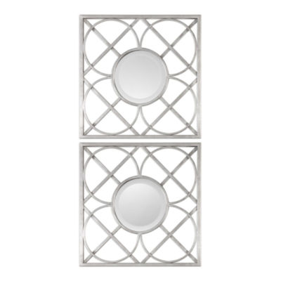 Yasmina Square Wall Mirrors (Set Of 2)