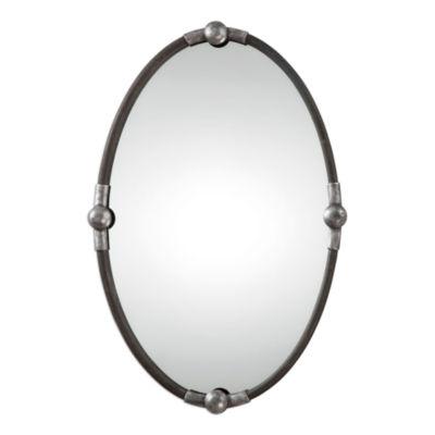 Carrick Framed Oval Wall Mirror