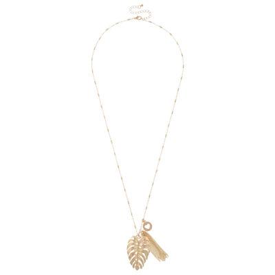 Decree Womens Brass Pendant Necklace