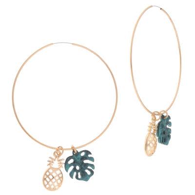 Decree Brass 2 Inch Stud Earrings
