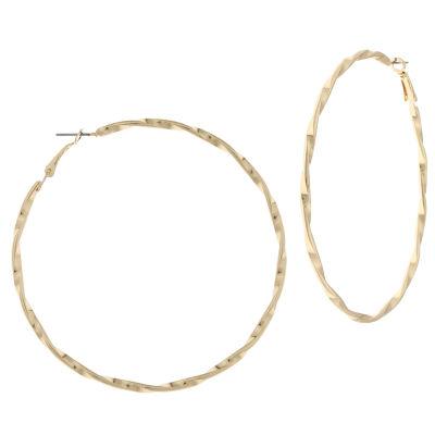 Bold Elements 60.6mm Hoop Earrings