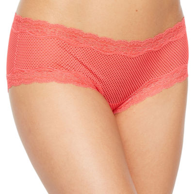 Ambrielle Geo Mesh Knit Hipster Panty