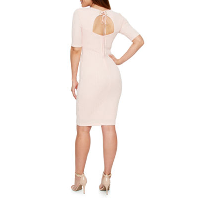 Premier Amour Elbow Sleeve Bodycon Dress