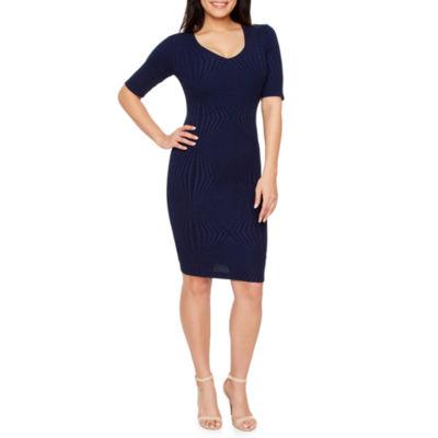 Premier Amour Short Sleeve Bodycon Dress