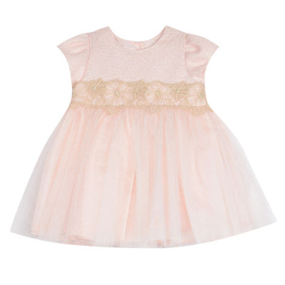 Marmellata Pink White Stripe Dress - Baby Girls