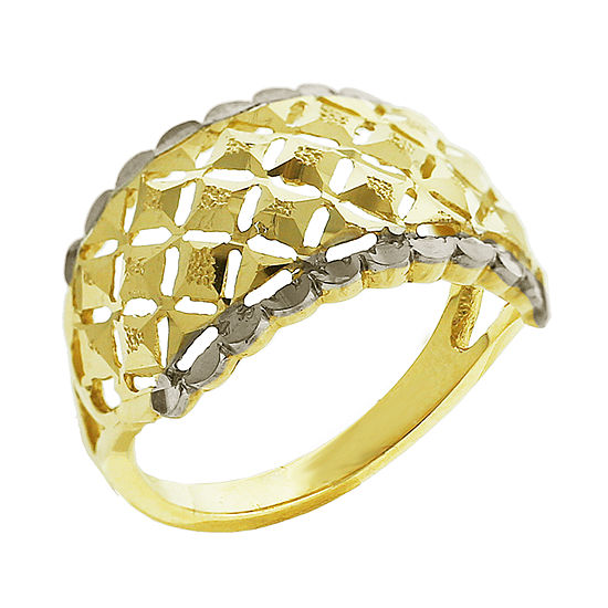 Womens 12mm 14K Two Tone Gold Band