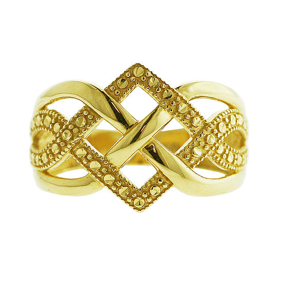 Womens 12mm 14k Gold Band