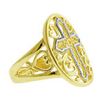 Womens 20.5mm 14K Two Tone Gold Band