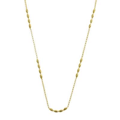 14K Gold 18 Inch Semisolid Cable Chain Necklace