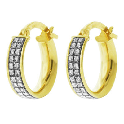 Made In Italy 14K Gold 15mm Hoop Earrings