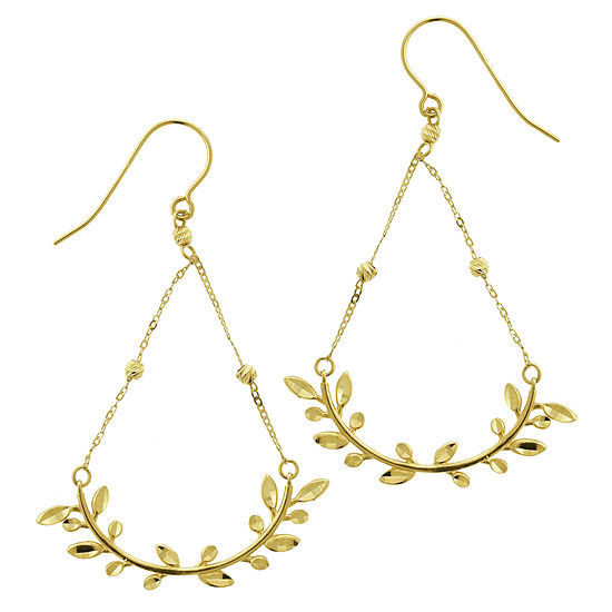 14K Gold 40mm Hoop Earrings