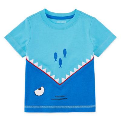 Okie Dokie Shark Graphic Tee - Baby Boy NB-24M