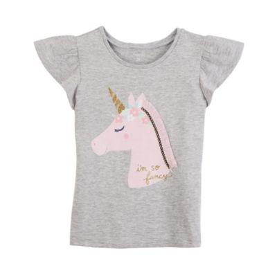 Carter's Short Sleeve Flutter T-Shirt-Toddler Girls 2T-5T