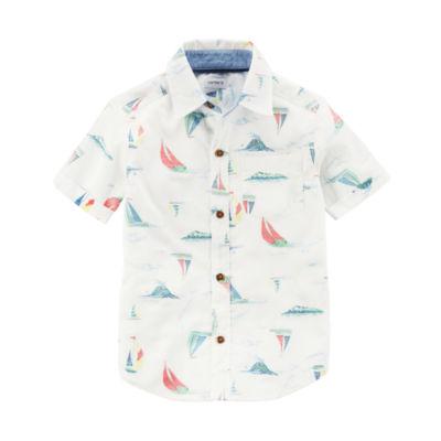 Carter's Short Sleeve Button-Front Woven Shirt - Toddler Boy 2T-5T