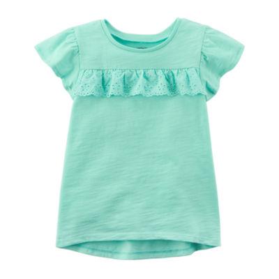 Carter's Short Sleeve Crew Neck T-Shirt-Preschool Girls