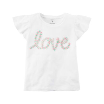 Carter's 3D Flutter Sleeve T-Shirt-Preschool Girls