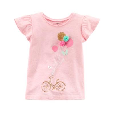 Carter's 3D Flutter Sleeve T-Shirt-Preschool Girls