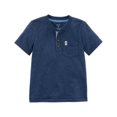 Carter's Short Sleeve Henley Shirt - Toddler Boys
