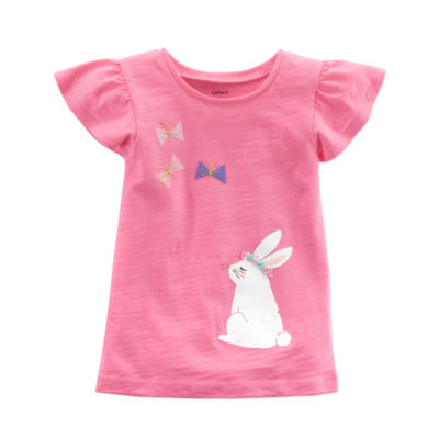 Carter's Bunny Flutter Sleeve Tee - Toddler Girls 2T-5T