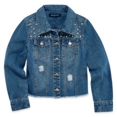 Squeeze Girls Denim Jacket-Big Kid