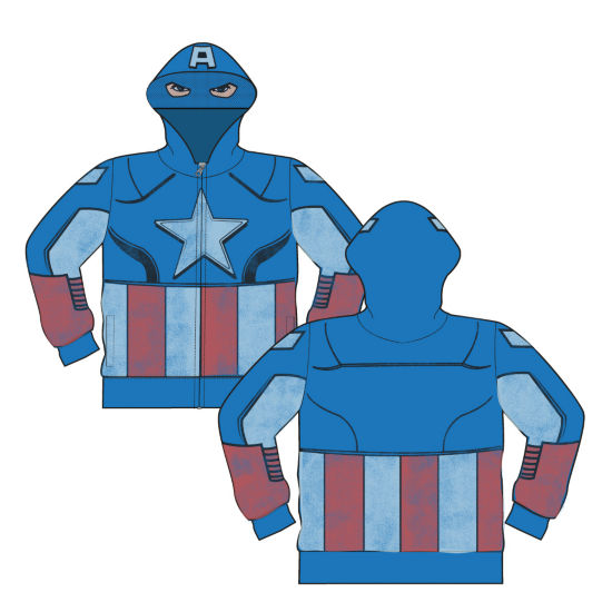 Captain America Hoodie-Big Kid Boys