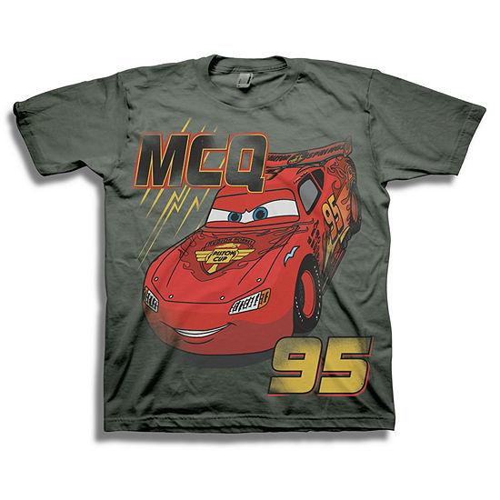 Boys Crew Neck Short Sleeve Cars Graphic T-Shirt - Preschool
