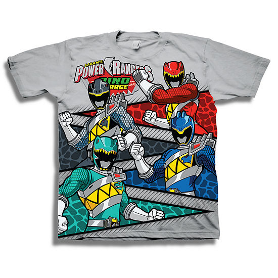 Boys Crew Neck Short Sleeve Power Rangers Graphic T-Shirt - Preschool
