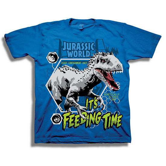 Little Kid Boys Crew Neck Jurassic World Short Sleeve Graphic T-Shirt