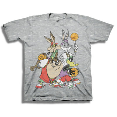 Boys Crew Neck Short Sleeve Looney Tunes Graphic T-Shirt-Big Kid