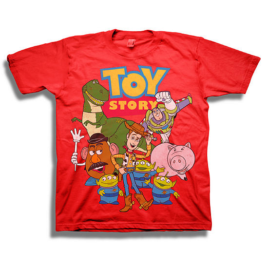 Big Kid Boys Crew Neck Toy Story Short Sleeve Graphic T-Shirt