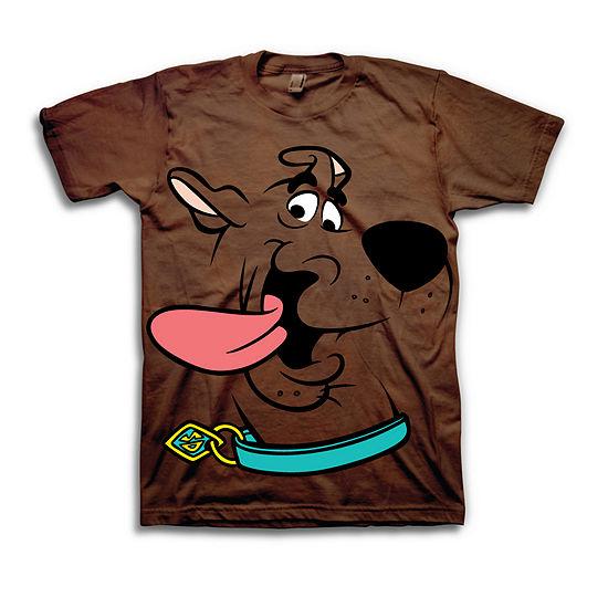 Boys Crew Neck Short Sleeve Scooby Doo Graphic T-Shirt - Big Kid