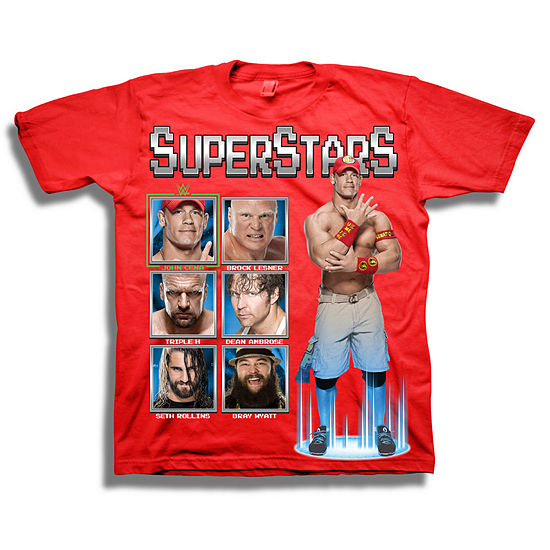 Boys Crew Neck Short Sleeve WWE Graphic T-Shirt Big Kid