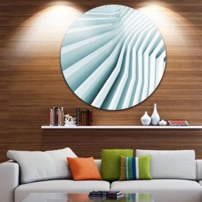 Design Art Fractal Architecture 3D Waves Circle Metal Wall Art