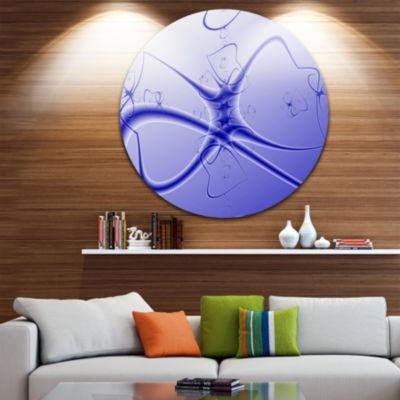 Design Art Fictional Micro Life Form Circle MetalWall Art