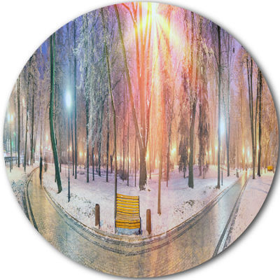 Design Art Beautiful Mariinsky Garden View CircleMetal Wall Art
