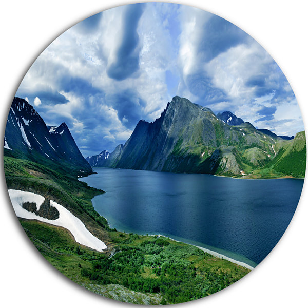 Design Art Polar Ural Mountains Panorama LandscapeRound Circle Metal Wall Art