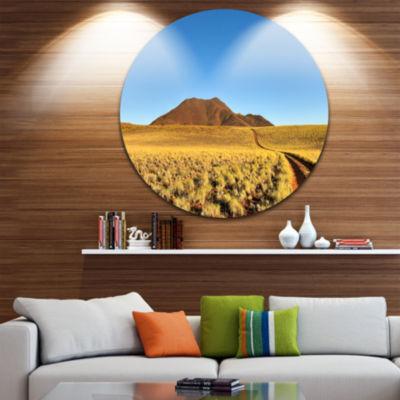 Design Art Namibrand Desert Landscape Landscape Round Circle Metal Wall Art