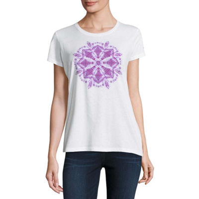 Columbia Sportswear Co. Womens Crew Neck Short Sleeve Graphic T-Shirt