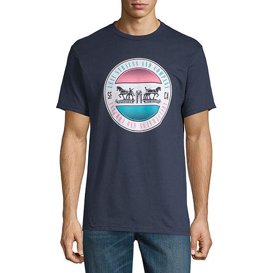 Levi's Levi Graphic Tees Mens Crew Neck Short Sleeve Logo Graphic T-Shirt
