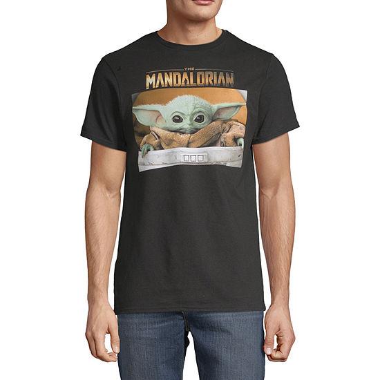 The Mandalorian The Child Mens Crew Neck Short Sleeve Star Wars Graphic T-Shirt